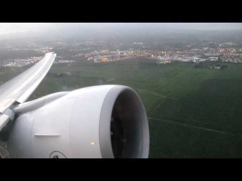 Boeing 777-300ER Take off from Martinique - [Sunset]