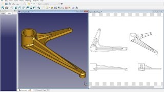 FreeCAD 0.16 (5516) : Mechanical drawing H13B-1