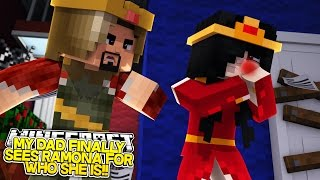 DAD HITS RAMONA AND KICKS HER OUT?!w/Little Carly and Little Kelly (Minecraft Roleplay)