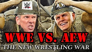 True Story Behind WWE vs AEW - The New Wrestling War