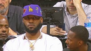 LeBron James Watches His New Lakers At 2019 Summer League! Lakers vs Bulls
