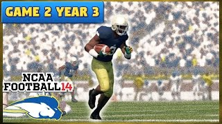 Another Upset?? | @ #19 Notre Dame (S3, G2) | NCAA Football 14 TeamBuilder Dynasty Ep. 38