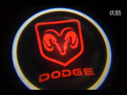 Car door Logo Laser LED Shadow Light Dodge Vehicle - YouTube