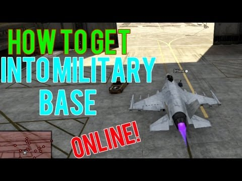 GTA 5 (V) Online: How to get into the military base (works 100%)   1080p xbox 360