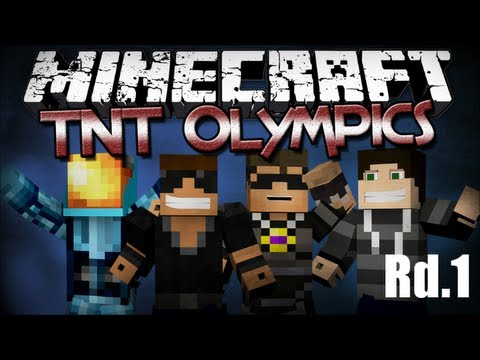 Minecraft TNT Olympics (Rd.1) Ft. SkyDoesMinecraft, MinecraftUniverse & BurtGasm