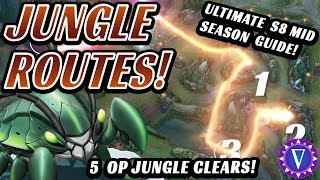 5 Strong Jungle Routes And Pathings For Mid Season 8 (Get Level 3 And Dominate Scuttle Crabs!)