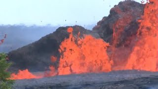 Lava from Hawaii's Kilauea volcano reaches ocean, creating new health threat