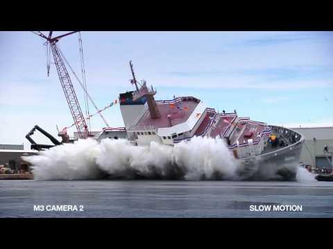 NOAA Reuben Lasker FSV (Christening & Launch)