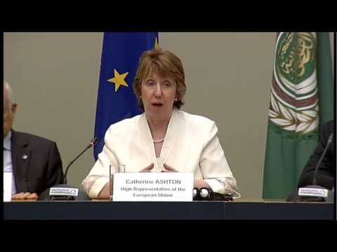 Catherine Ashton at the EU-Arab League Meeting