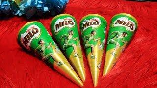 OMG!! Es Krim Milo Cone dari Malaysia Asli Enak Banget - Beli Ice Cream Milo di Penjual Es Krim