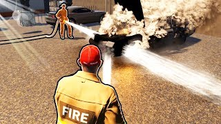 Can Two Best Friends become The BEST FireFighters in the City in Flashing Lights?
