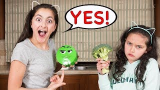 We only ate GREEN food for 24 HOURS challenge!!! Prank!!!