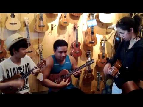 Over the Rainbow - Sungha Jung, Brittni Paiva, Kalei Gamiao UKULELE JAM