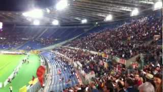 AS Roma fans singing before Napoli game