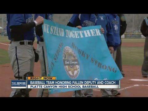 baseball team honoring fallen deputy and coach