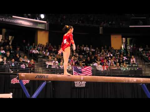 Nina Lou - Balance Beam Finals - 2012 Kellogg&#039;s Pacific Rim Championships - 2nd