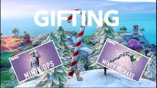 Gifting Minty Pickaxe (Fortnite Battle Royale)
