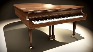 How Piano Works (Hammer Action Animation) in Blender