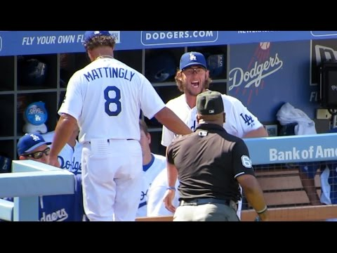 Clayton Kershaw Ejected 9-7-14 Sticking Up for His Team