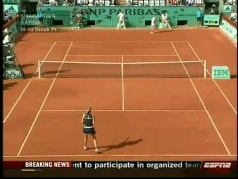 Maria Sharapova - Swearing at crowd \