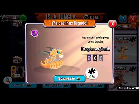 Dragon City l Isla Jungla l Como conseguir al Dragon Serpiente l pieza 1/4