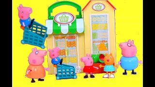 "PEPPA PIG GROCERY STORE | Peppa Pig Store Opening ""Shopping Fruits Vegetables"" 