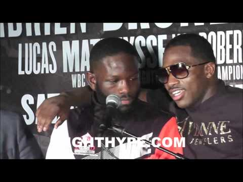 ADRIEN BRONER GIVES PROPS TO EMMANUEL TAYLOR YOU A HELL OF A FIGHTER