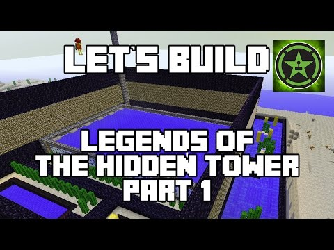 Lets Build in Minecraft Legends of the Hidden Tower Part 1