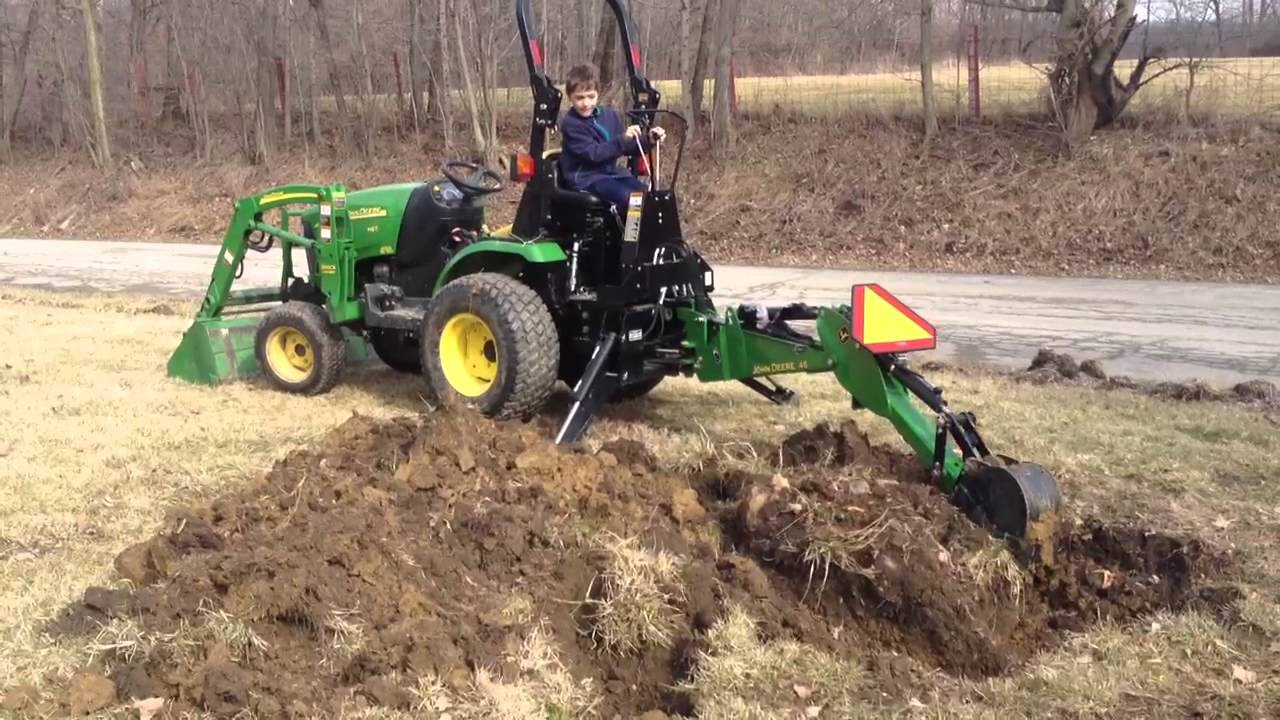 john deere backhoe 46 2320 tractor youtube. Black Bedroom Furniture Sets. Home Design Ideas