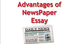 benefits of reading newspaper essay