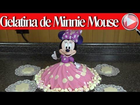 Gelatina de Minnie Mouse / De Yogurt y Tres Leches - Recetas en Casayfamiliatv