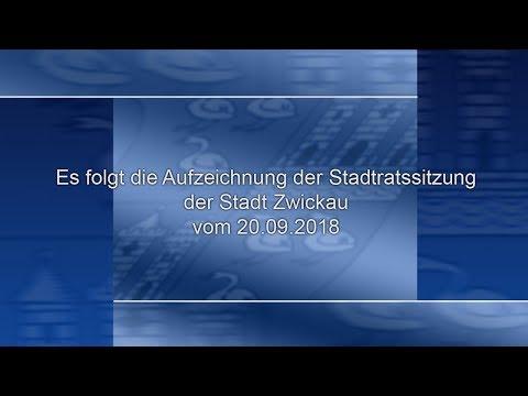 Stadtratssitzung der Stadt Zwickau vom 20.09.2018 Teil 01