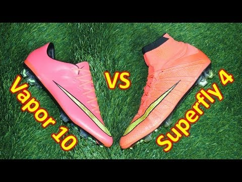 Nike Mercurial Superfly 4 VS Mercurial Vapor 10 - Comparison + Review