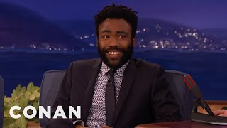 "Donald Glover's On-Set ""Martian"" Accident  - CONAN on TBS"