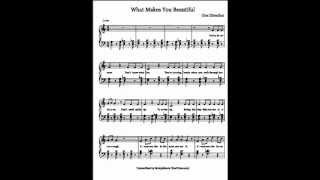 WHAT MAKES YOU BEAUTIFUL by One Direction ^^Free Sheet Music^^ with Lyrics