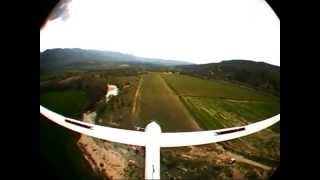 sailplane lak 12 over french alps