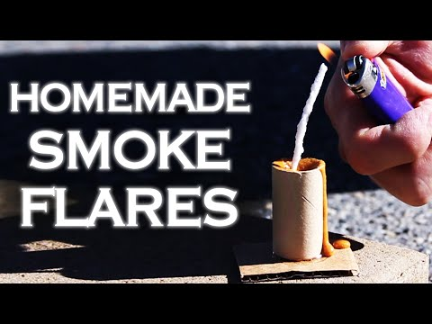 Homemade Smoke Flares (Smoke bombs)