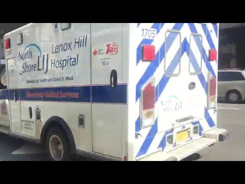 NORTH SHORE LIJ LENOX HILL HOSPITAL EMS AMBULANCE RESPONDING ON AMSTERDAM AVE., MANHATTAN, NYC.