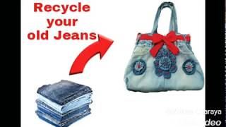 Recycle old Jeans and make beautiful hand bag
