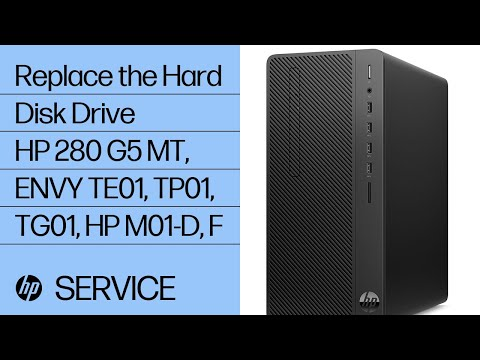 Replace the Hard Disk Drive   HP 280 G5 MT, TE01-000, TP01-000, TG01-000, HP M01-D0000, F0000   HP