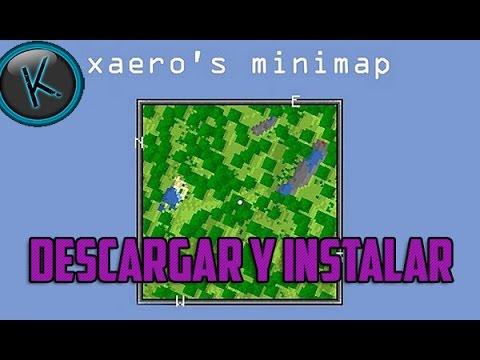 Minecraft 1.8 - Como Descargar e Instalar Xaero's Minimap MOD - ESPAÑOL