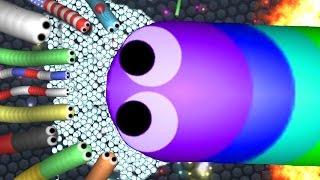 BIGGEST SNAKE VS ENTIRE SERVER  SLITHERIO Gameplay