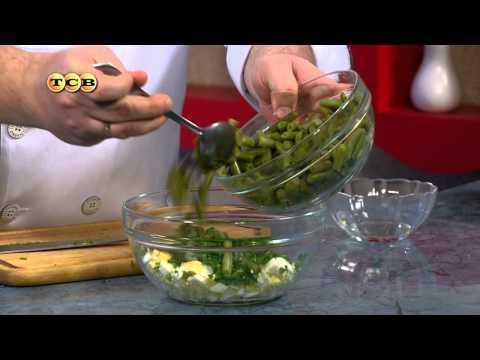 Яичный салат со стручковой фасолью - Дело вкуса