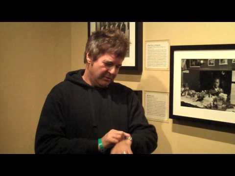 Rock and Roll Hall of Fame inductee Clem Burke of Blondie tours the Museum