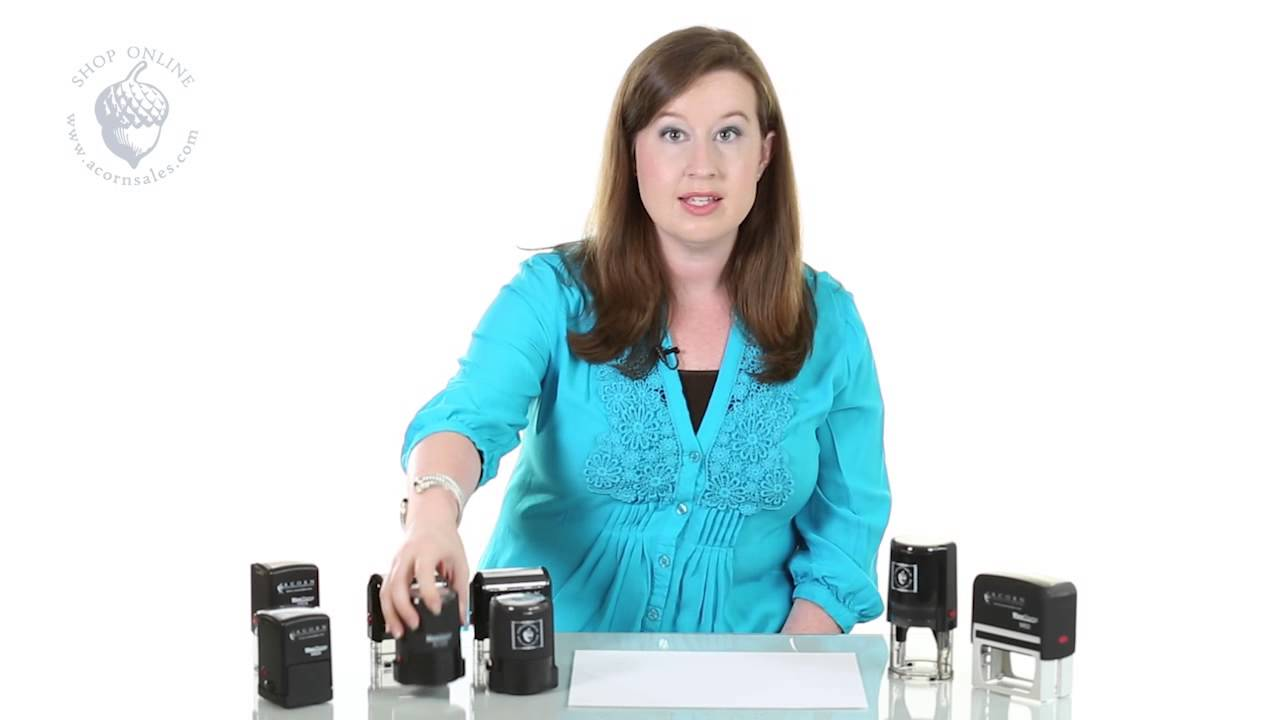 Proper Use of the C-43 Stamps and other M Series Self Inking Stamps - YouTube