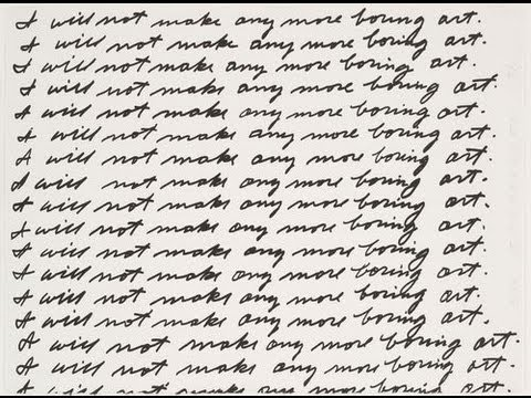 John Baldessari, I Will Not Make Any More Boring Art, 1971