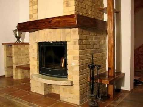 kominek z cegły