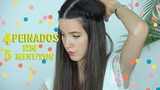 4 Peinados con Trenzas en solo 5 Minutos!! Bellos y Sencillos!! | Peace and Vogue