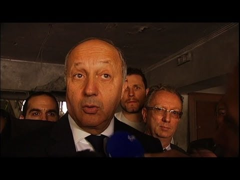French minister visits bombed embassy in Libya