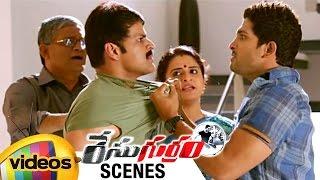 Allu Arjun Fights with Shaam | Race Gurram Movie Scenes | Shruti Haasan | Mango Videos